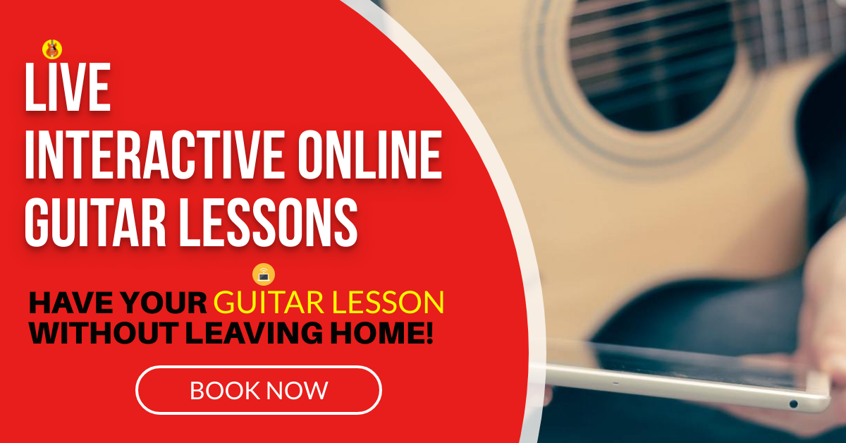 Live interactive Online Guitar Lessons using Zoom